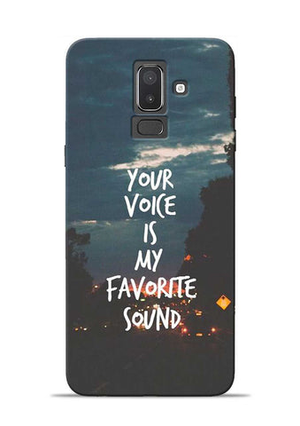 Your Voice Samsung Galaxy J8 Mobile Back Cover