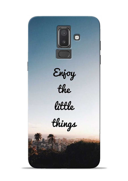 Enjoy The Little Things Samsung Galaxy J8 Mobile Back Cover