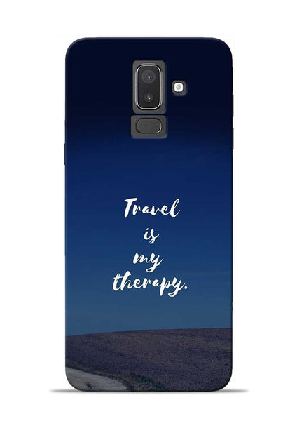Travel Is My Therapy Samsung Galaxy J8 Mobile Back Cover