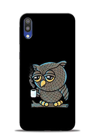 Sleepy Owl Samsung Galaxy M10 Mobile Back Cover