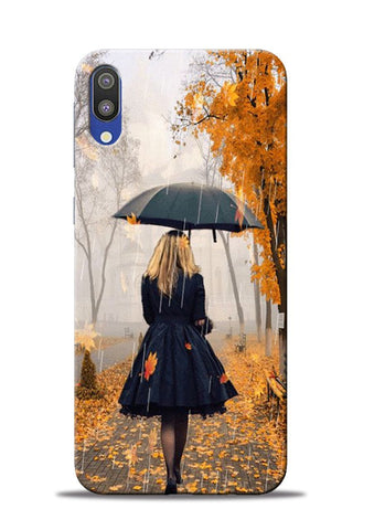Walk In A Rain Samsung Galaxy M10 Mobile Back Cover