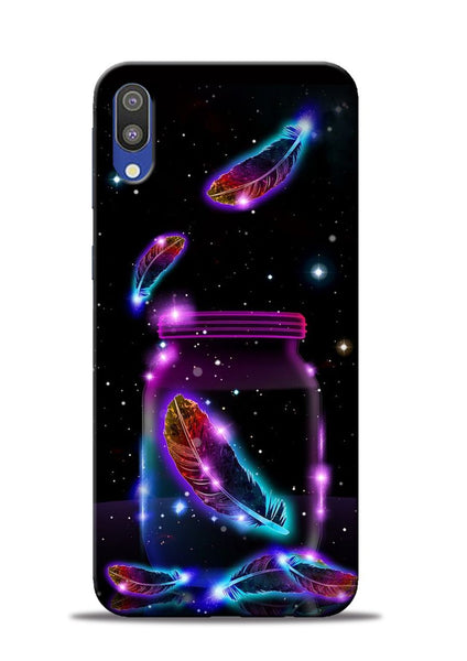 Glowing Bird Fur Samsung Galaxy M10 Mobile Back Cover
