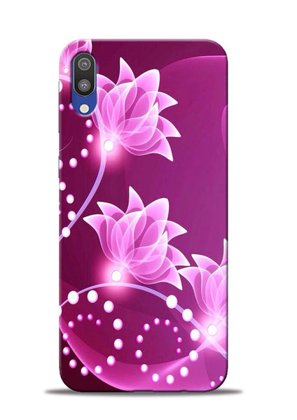 Pink Flower Samsung Galaxy M10 Mobile Back Cover