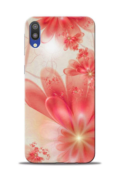 Glowing Flower Samsung Galaxy M10 Mobile Back Cover