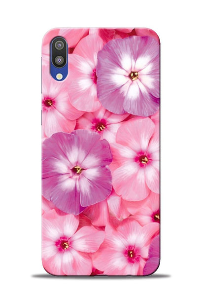 Purple Pink Flower Samsung Galaxy M10 Mobile Back Cover