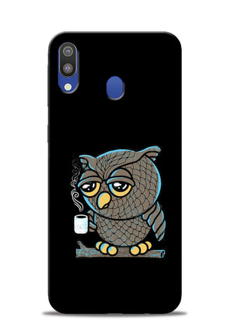Sleepy Owl Samsung Galaxy M20 Mobile Back Cover