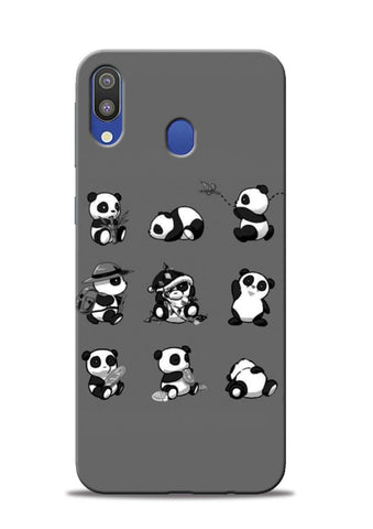 Nine Panda Moods Samsung Galaxy M20 Mobile Back Cover