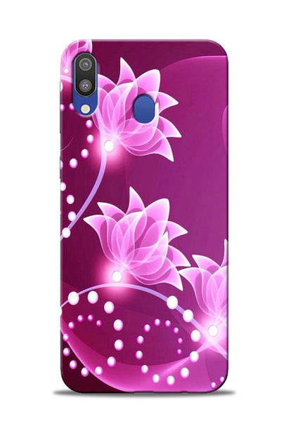 Pink Flower Samsung Galaxy M20 Mobile Back Cover