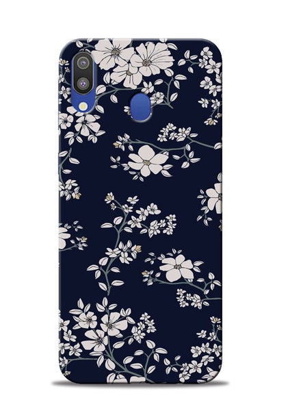 The Grey Flower Samsung Galaxy M20 Mobile Back Cover