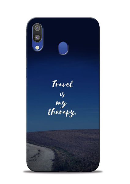 Travel Is My Therapy Samsung Galaxy M20 Mobile Back Cover