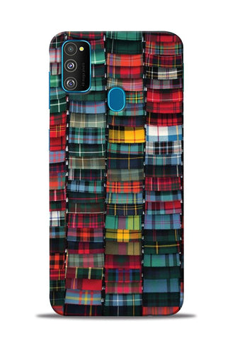 Multi Checks Samsung Galaxy M30s Mobile Back Cover