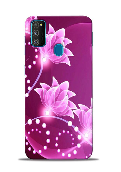Pink Flower Samsung Galaxy M30s Mobile Back Cover
