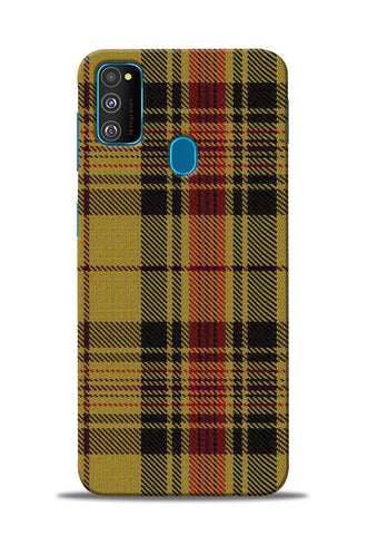 Brown Checks Samsung Galaxy M31 Mobile Back Cover