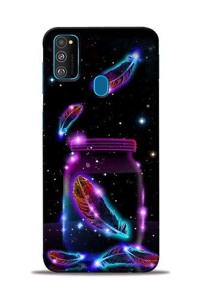 Glowing Bird Fur Samsung Galaxy M31 Mobile Back Cover