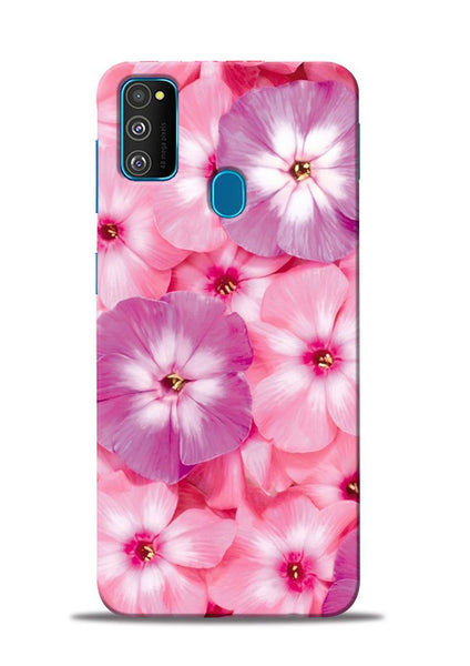 Purple Pink Flower Samsung Galaxy M31 Mobile Back Cover