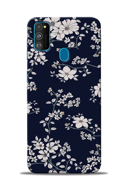 The Grey Flower Samsung Galaxy M31 Mobile Back Cover
