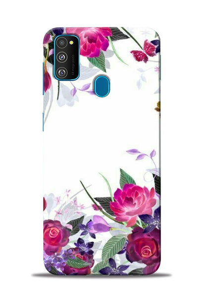 The Great White Flower Samsung Galaxy M31 Mobile Back Cover