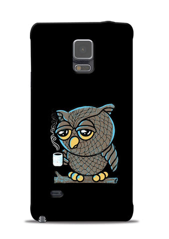 Sleepy Owl Samsung Galaxy Note 4 Mobile Back Cover