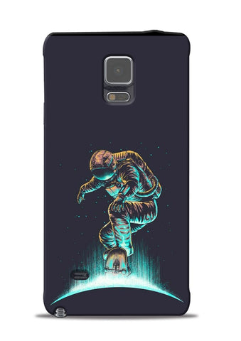 Astronaut Roller Skating Samsung Galaxy Note 4 Mobile Back Cover