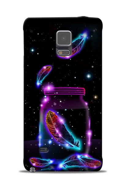 Glowing Bird Fur Samsung Galaxy Note 4 Mobile Back Cover