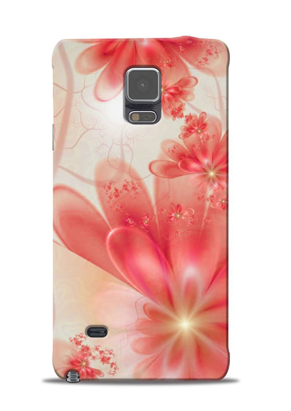 Glowing Flower Samsung Galaxy Note 4 Mobile Back Cover