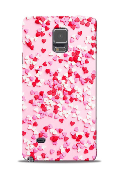 White Red Heart Samsung Galaxy Note 4 Mobile Back Cover