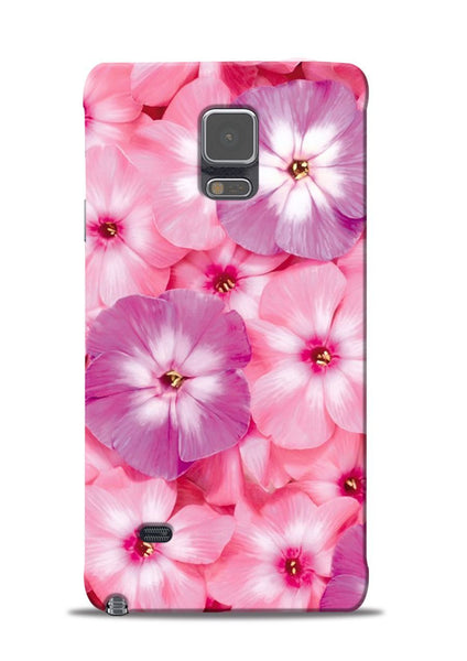 Purple Pink Flower Samsung Galaxy Note 4 Mobile Back Cover