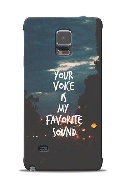 Your Voice Samsung Galaxy Note 4 Mobile Back Cover