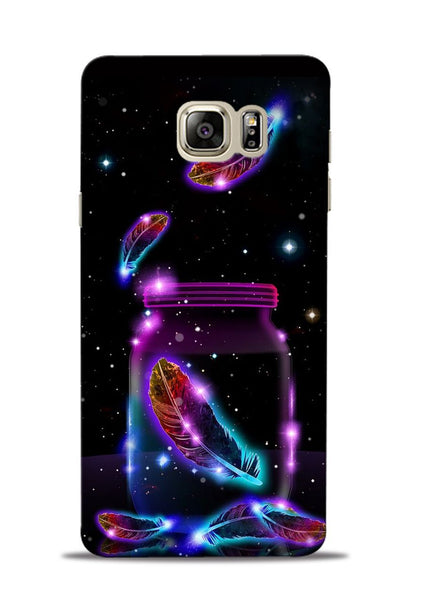 Glowing Bird Fur Samsung Galaxy Note 5 Mobile Back Cover