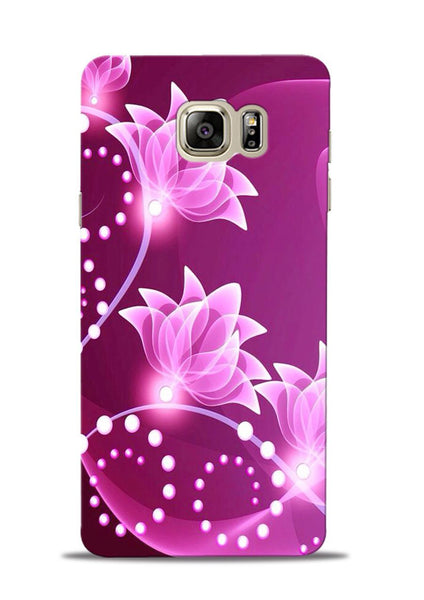 Pink Flower Samsung Galaxy Note 5 Mobile Back Cover