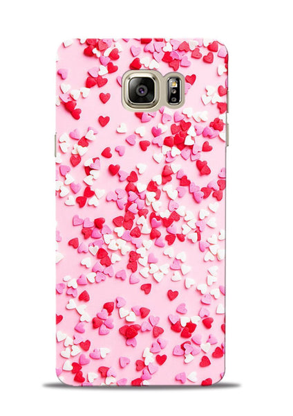 White Red Heart Samsung Galaxy Note 5 Mobile Back Cover