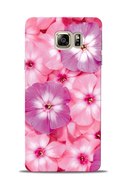 Purple Pink Flower Samsung Galaxy Note 5 Mobile Back Cover