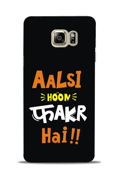 Aalsi Hoon Fakar Hai Samsung Galaxy Note 5 Mobile Back Cover