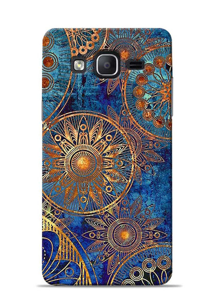 Copper Stamp Samsung Galaxy On7 Mobile Back Cover