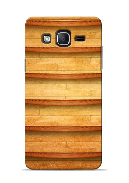 Wooden Texture Samsung Galaxy On7 Mobile Back Cover