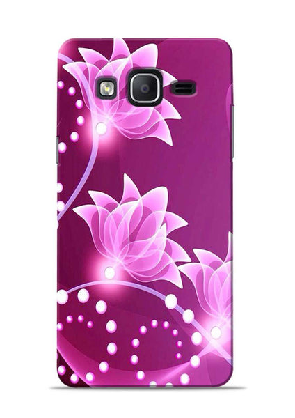 Pink Flower Samsung Galaxy On7 Mobile Back Cover