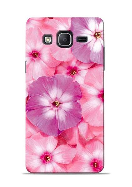 Purple Pink Flower Samsung Galaxy On7 Mobile Back Cover
