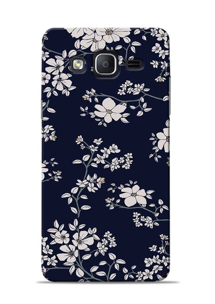 The Grey Flower Samsung Galaxy On7 Mobile Back Cover