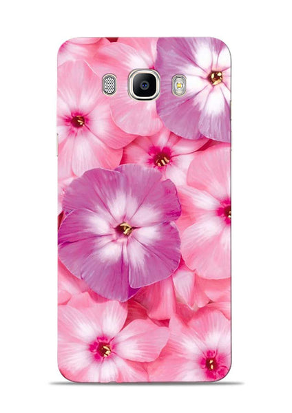Purple Pink Flower Samsung Galaxy On8 Mobile Back Cover