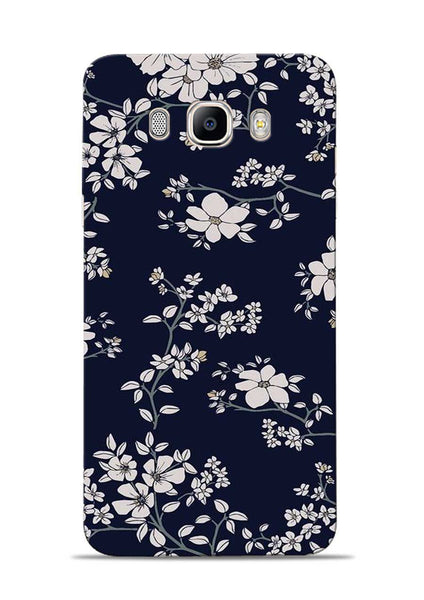 The Grey Flower Samsung Galaxy On8 Mobile Back Cover