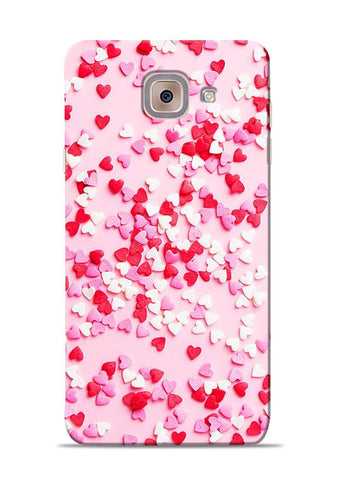 White Red Heart Samsung Galaxy On Max Mobile Back Cover