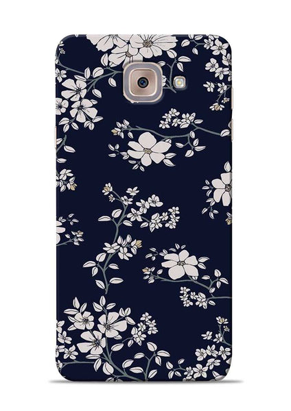The Grey Flower Samsung Galaxy On Max Mobile Back Cover