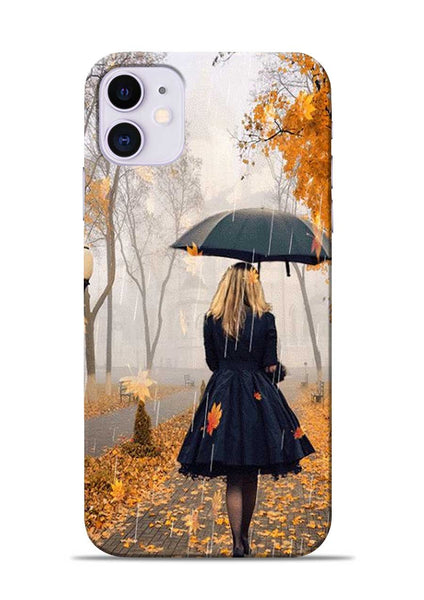 Walk In A Rain iPhone 11 Mobile Back Cover