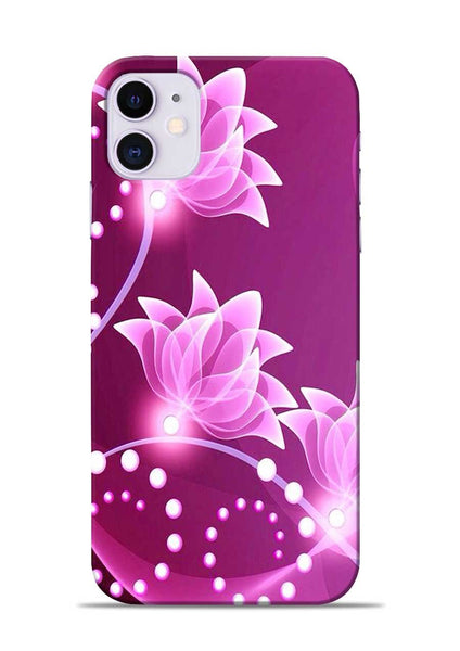 Pink Flower iPhone 11 Mobile Back Cover