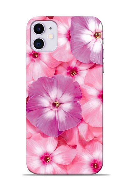 Purple Pink Flower iPhone 11 Mobile Back Cover