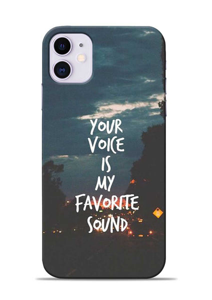 Your Voice iPhone 11 Mobile Back Cover