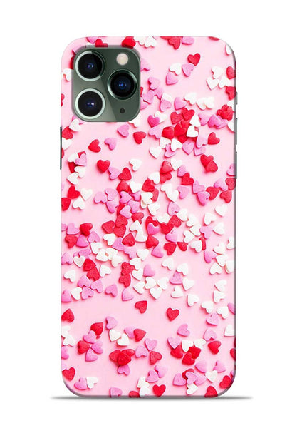 White Red Heart iPhone 11 Pro Mobile Back Cover