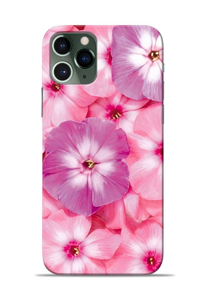 Purple Pink Flower iPhone 11 Pro Mobile Back Cover