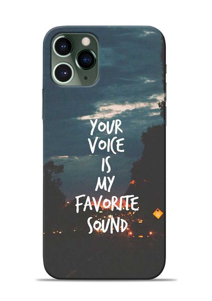 Your Voice iPhone 11 Pro Mobile Back Cover