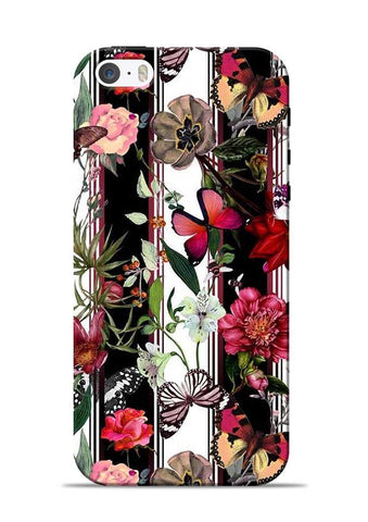 Butterfly Flower iPhone 5s Mobile Back Cover